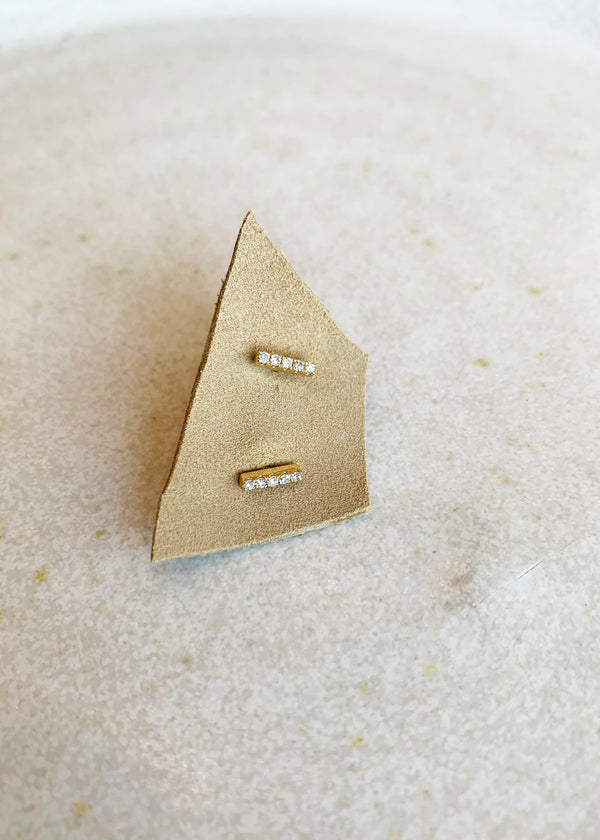 Gold Bar Studs - house of lolo