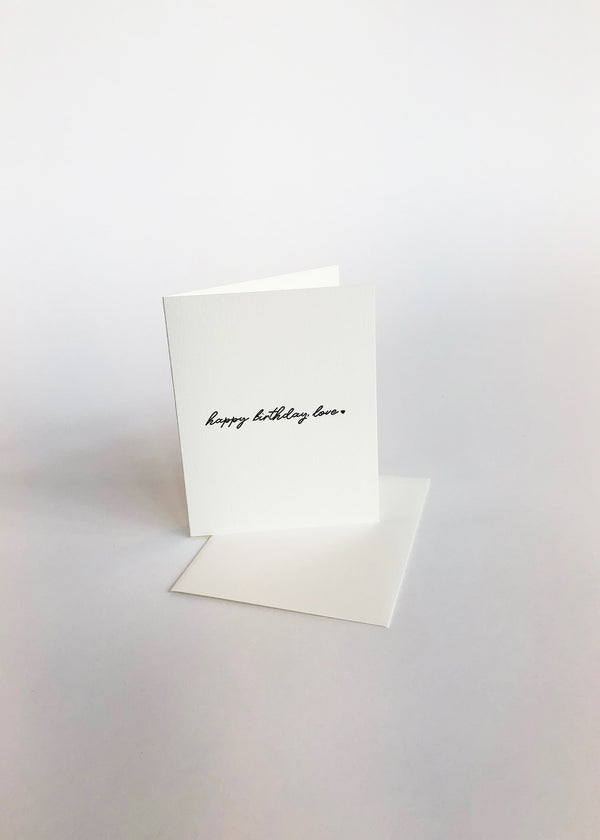 Birthday Love - Letterpress Card - house of lolo