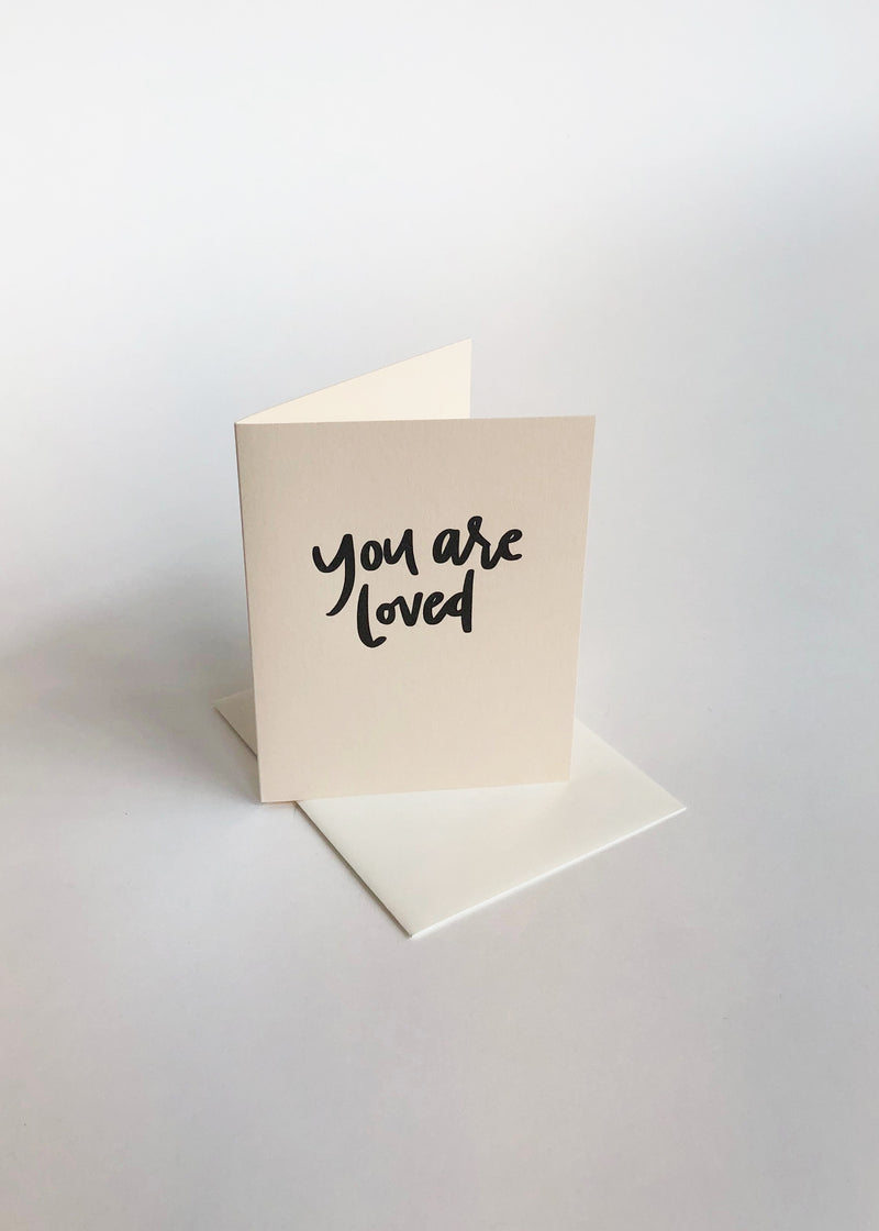 You are loved - Letterpress card - house of lolo