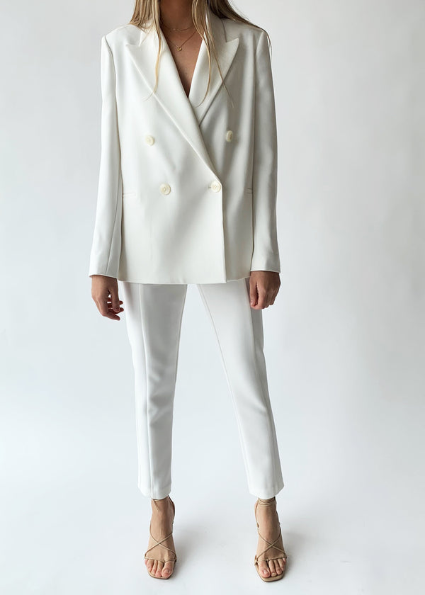Boxy Blazer - Porcelain - house of lolo