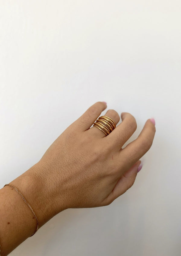 Layered Strand Ring - Gold - house of lolo