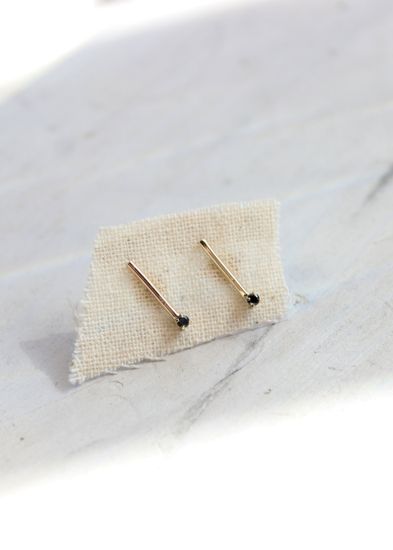 Black Diamond Matchstick Earrings - house of lolo