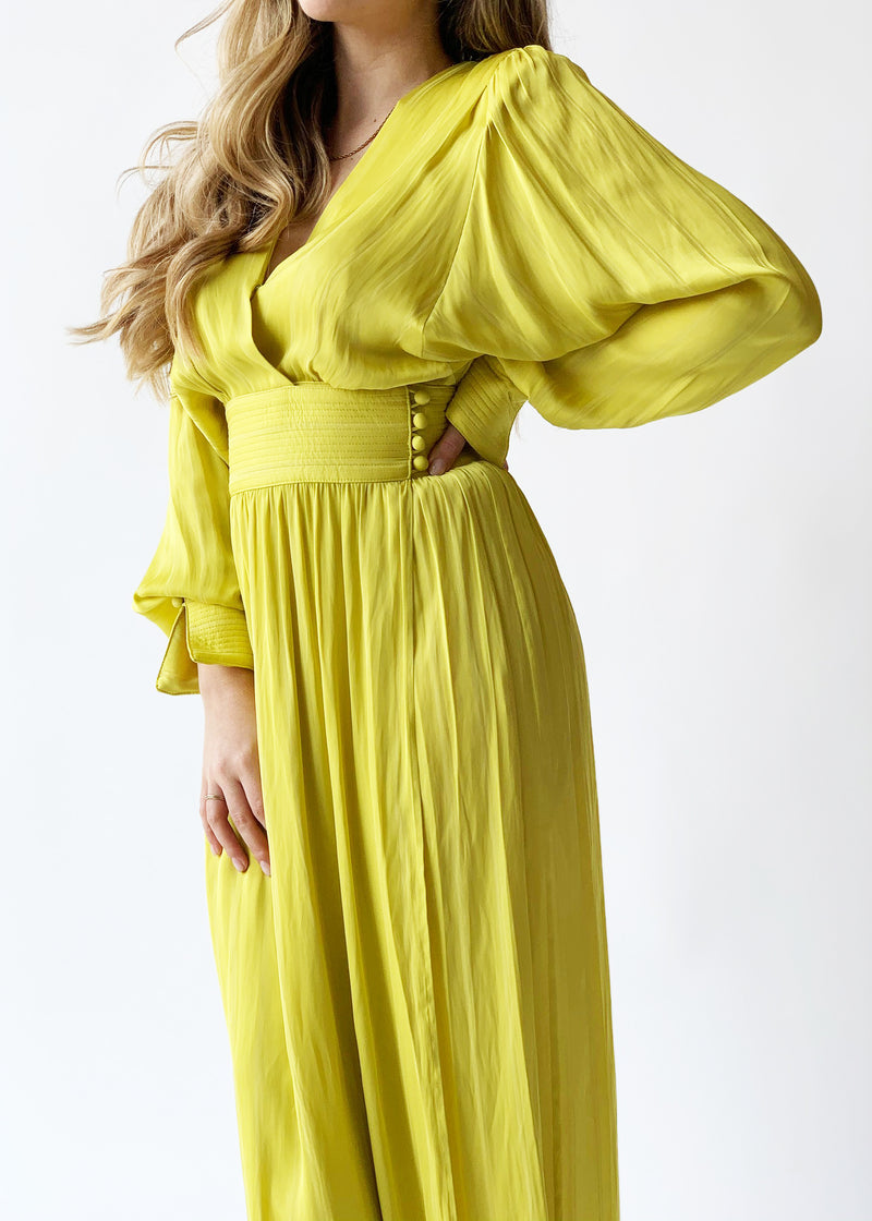 Acid Yellow Wrap Dress - house of lolo