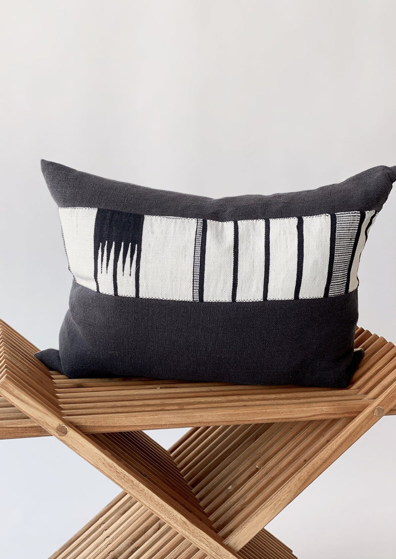 Black Trail Kidney Pillow 16x22 - house of lolo