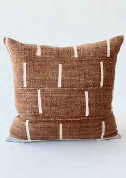 Ginger Mudcloth Pillow 22x22 - house of lolo