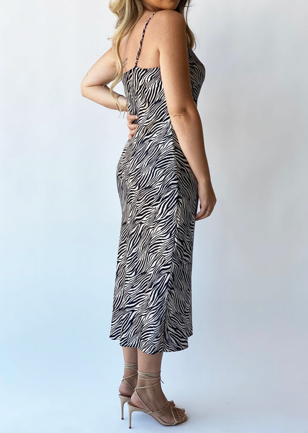 The Raven Zebra Silk Dress - house of lolo