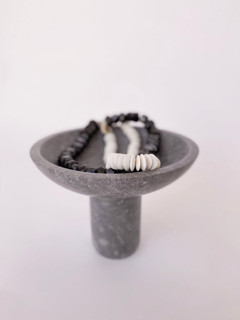 Tibby Black Marble Bowl - house of lolo