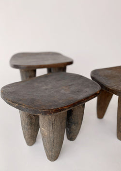 Vintage African Small Stool - house of lolo