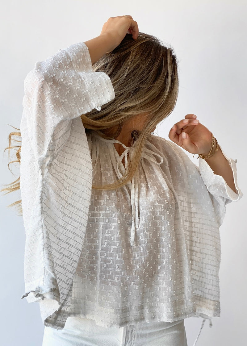 Helene Top Silver Grid - house of lolo