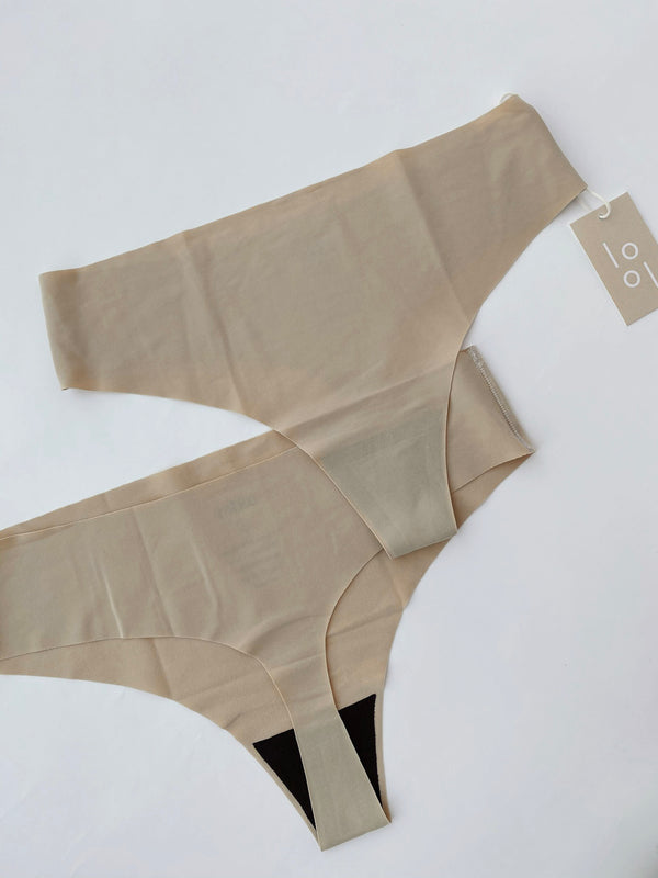 Signature Seamless Thong - Creme - house of lolo
