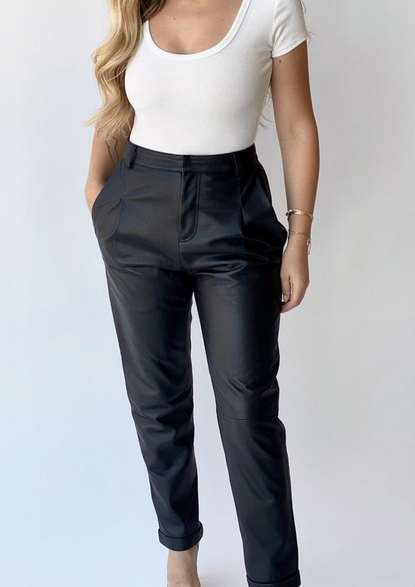 Bianca Leather Trousers - house of lolo