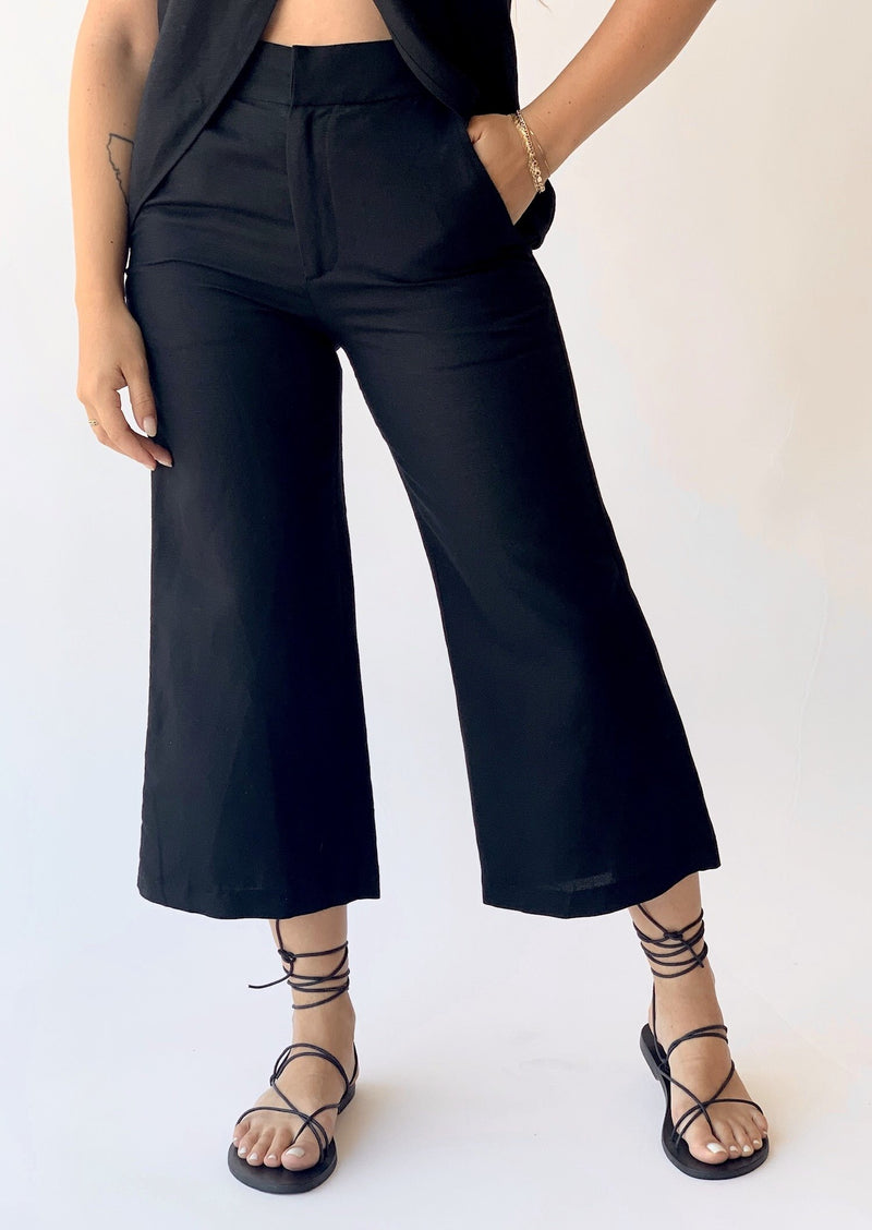 Silk Linen Culotte - house of lolo