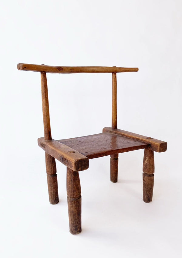 Vintage African Baule Low Chair - house of lolo