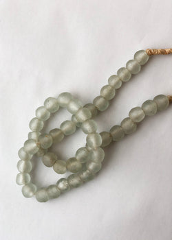 African Sea Glass Beads - Gray - house of lolo