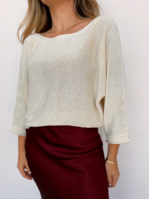 Hannes Off Shoulder Pullover - house of lolo