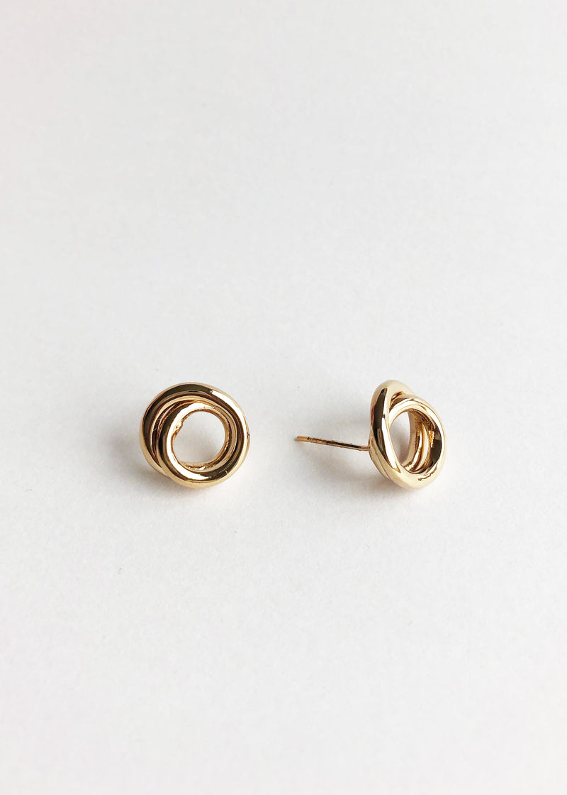 Linea Studs - Gold - house of lolo