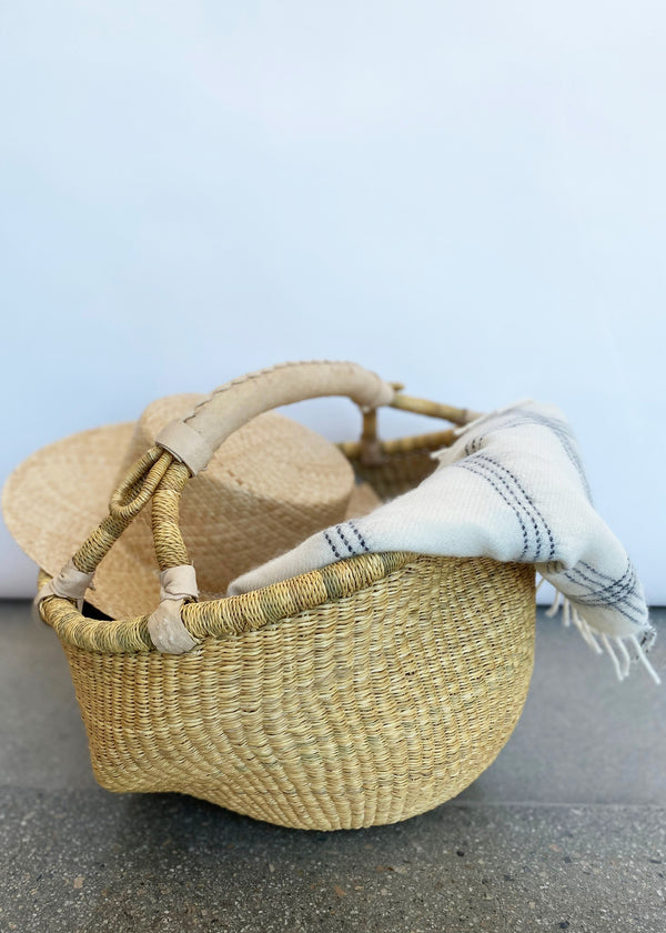 Kandiga Bolga Basket Natural Handle - house of lolo