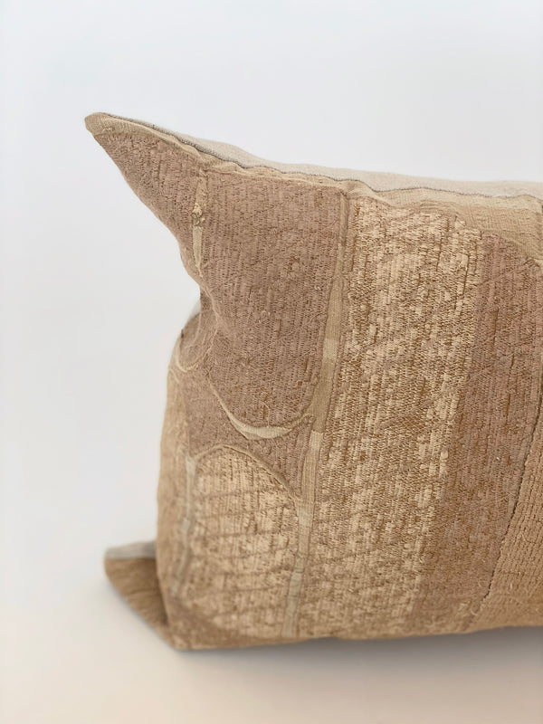 Asoke Embroided Pillow 12 x 22 - house of lolo