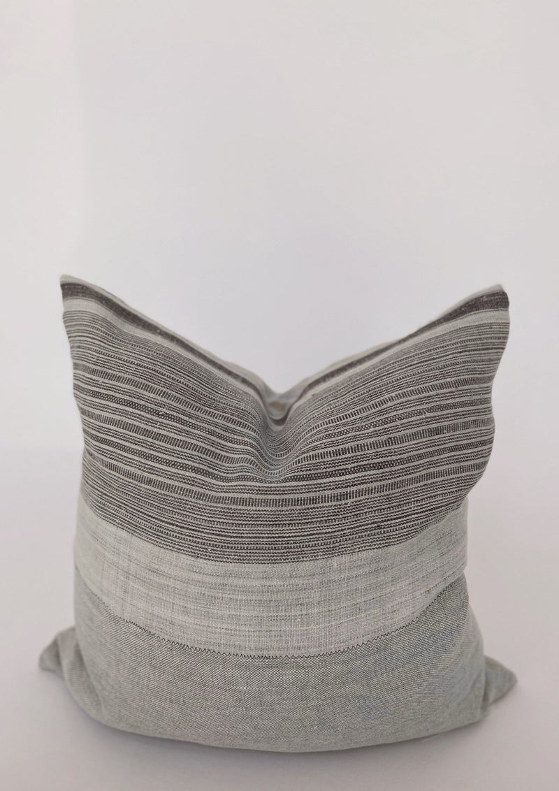 Gray Striped Pillow 22x22 - house of lolo