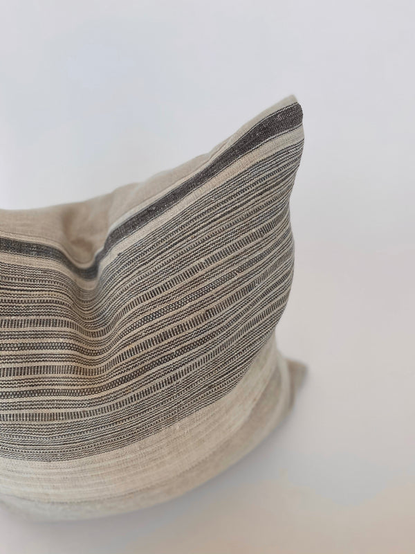 Vintage Taupe Stripe Pillow 22x22 - house of lolo