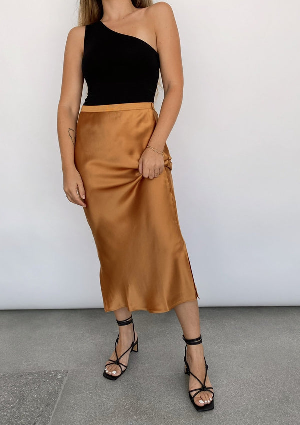 The Jessica Skirt - Camel - house of lolo