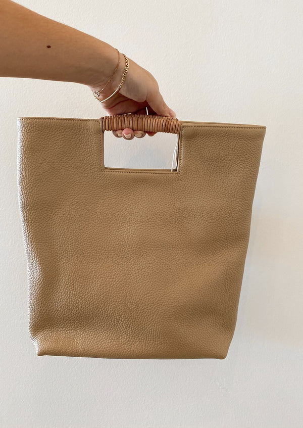 Reid Handle Bag - Oatmeal - house of lolo