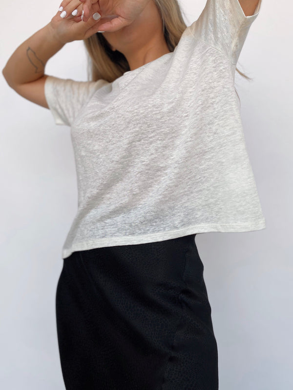 Linen Jersey Boy Tee - White - Available in various colors - house of lolo