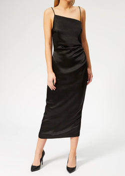 Claudia Asym Dress - Black - house of lolo