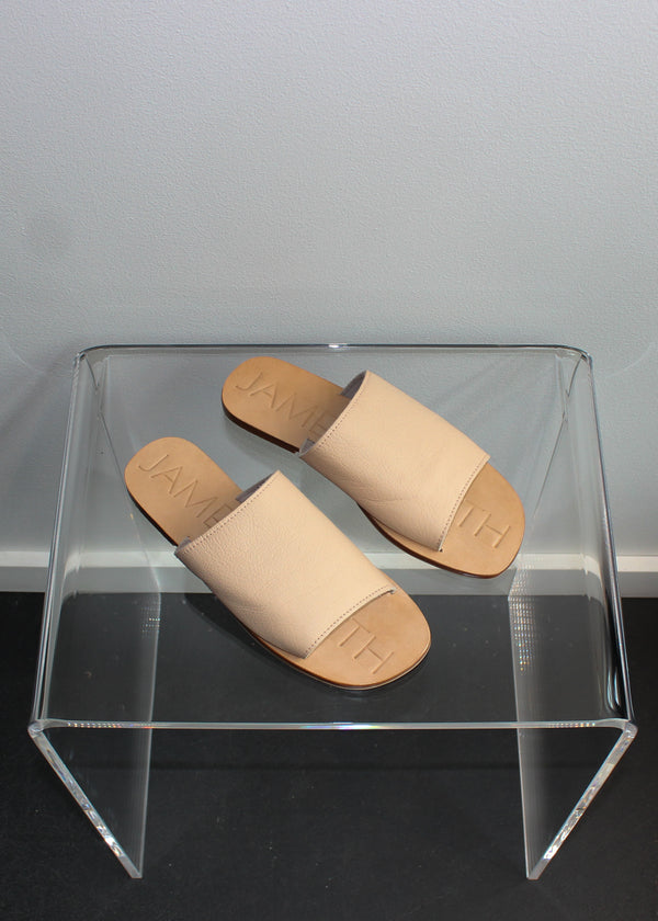 Flat Leather Slides - Ballet - house of lolo