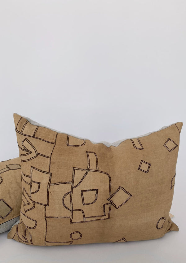 XL Luxe Abstract Pillow 21 x 28 - house of lolo