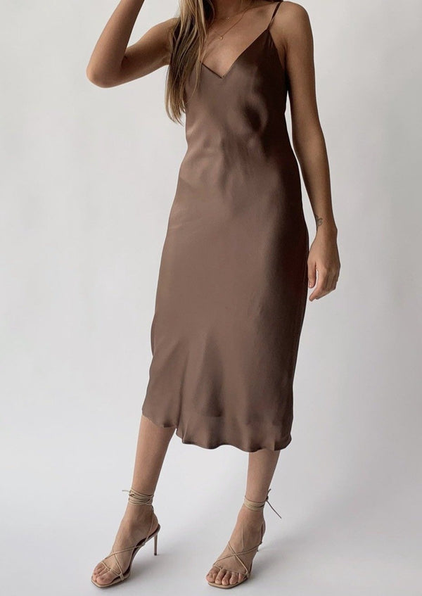 Jodie Slip Dress - Sparrow - house of lolo