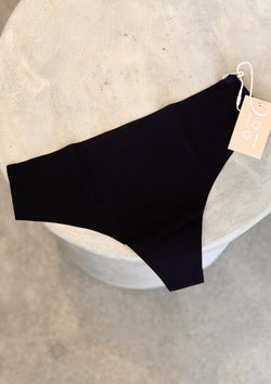 Signature Seamless Thong - Onyx - house of lolo