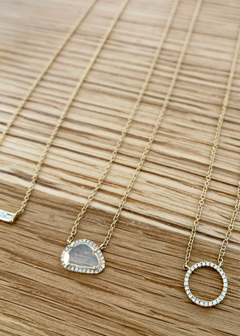 Single Slice Diamond Necklace - house of lolo