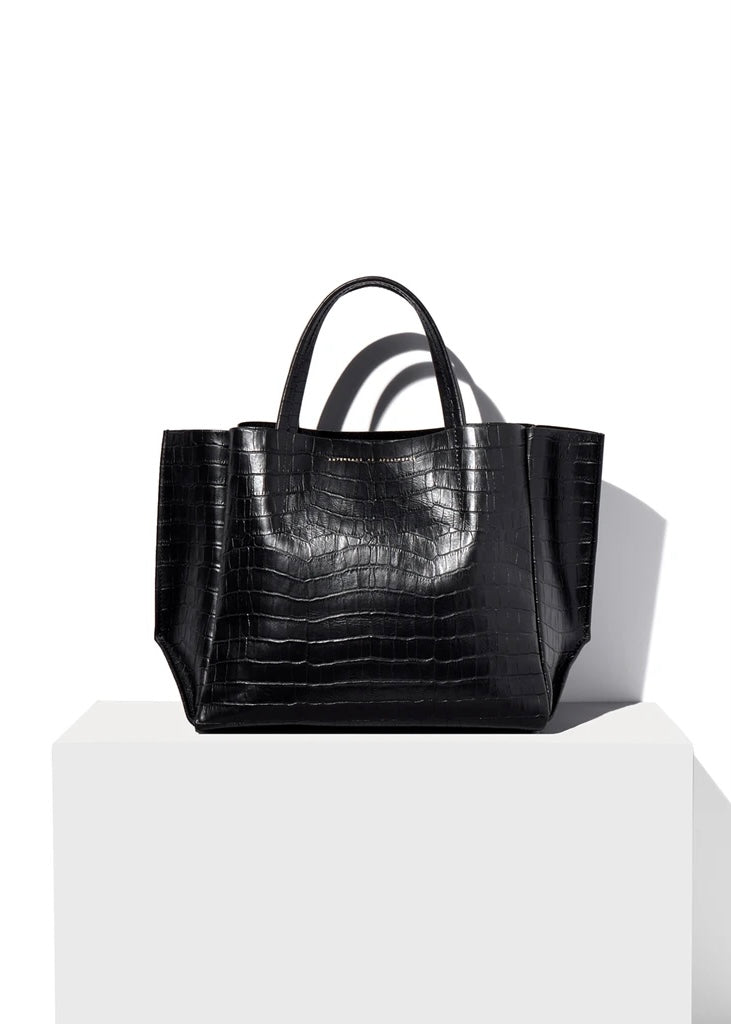 Half Tote - Black Croco - house of lolo