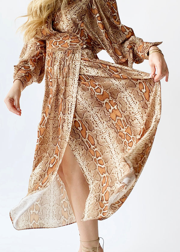 Desert Snake Wrap Dress - house of lolo