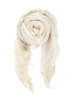 Eggshell Cashmere And Silk Scarf - house of lolo