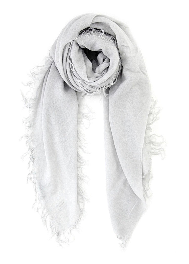 Glacier Grey Cashmere And Silk Scarf - house of lolo