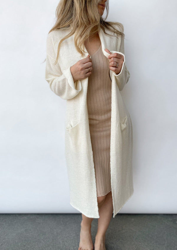 Evan Linen Duster - Ivory - house of lolo