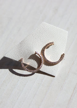 Diamond Corkscrew Earrings - house of lolo