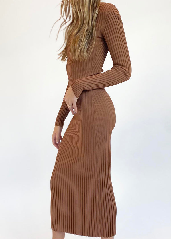 Adele Midi Dress - Chocolate - house of lolo