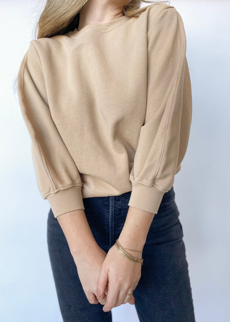 Thora Sweatshirt - Tan - house of lolo
