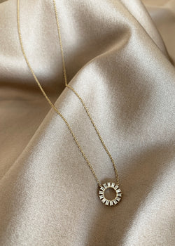 Petite Sunburst Necklace - house of lolo