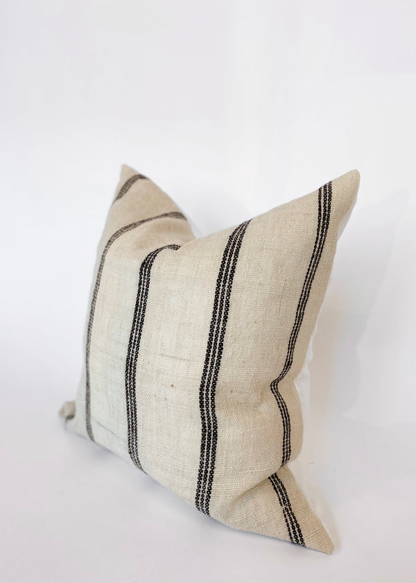 "Priya 24"" Ivory Indian Wool Pillow Cover - house of lolo"