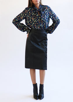 Black Leather Skirt - house of lolo