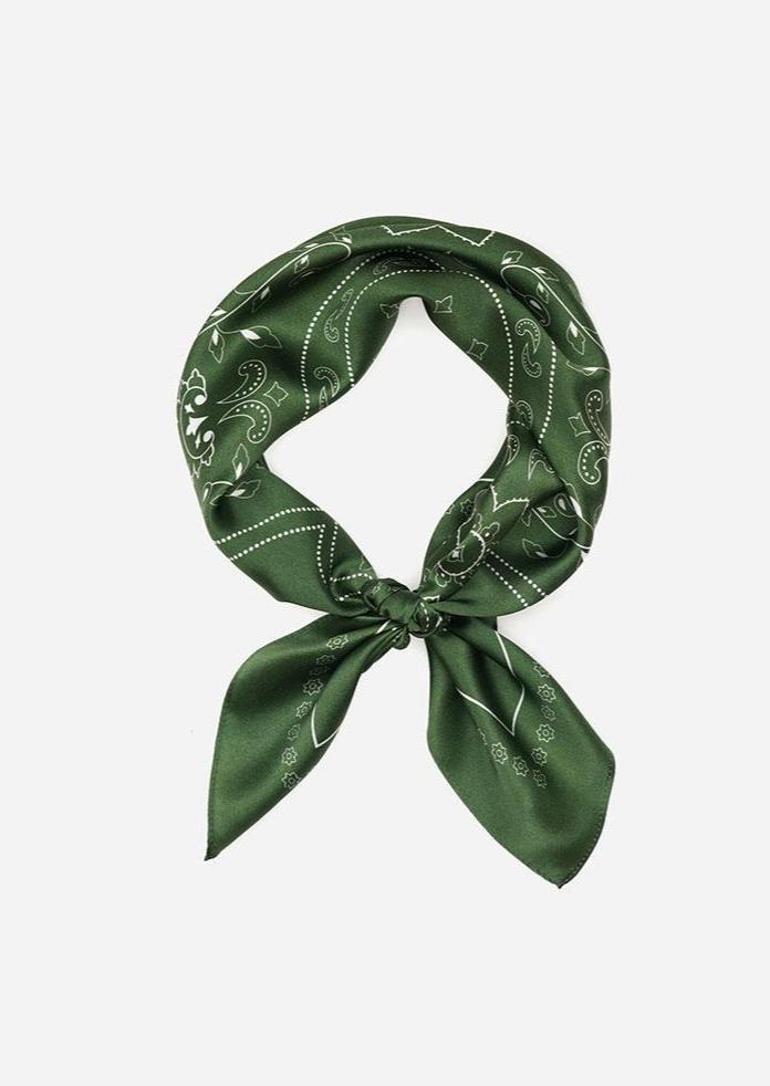 Western Silk Scarf - Moss - house of lolo