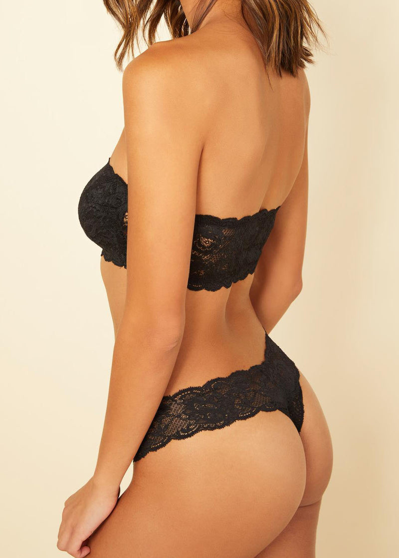 Cutie Lace Thong - Black - house of lolo