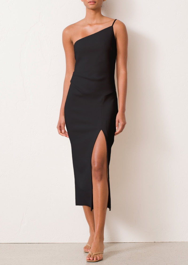 Raphaela Midi Dress - Black - house of lolo