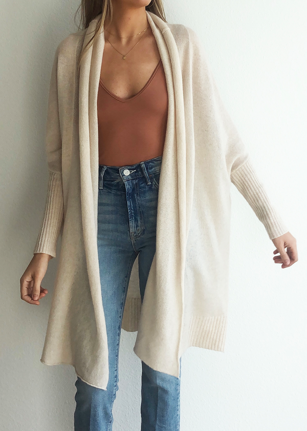 Cocoon Shawl Jacket - Oatmeal
