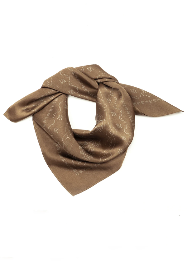Western Silk Scarf - Mountain - house of lolo