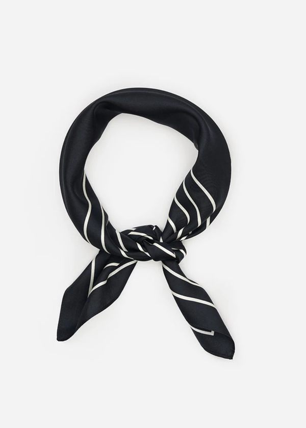 Agnes Silk Scarf - Black - house of lolo